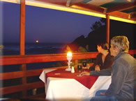 A moonlit dinner on the deck - click to enlarge
